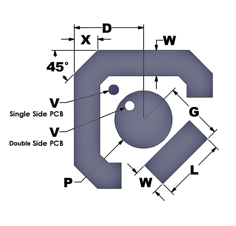 Single or Double Sided Contact Pad - for Double Contact DT D