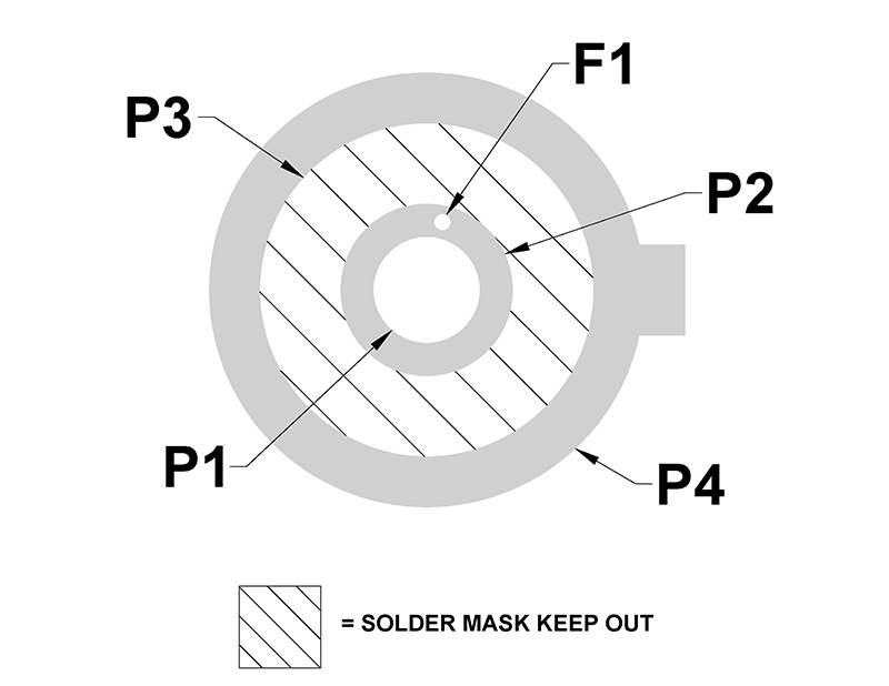 Double face avec circuit imprimé LED