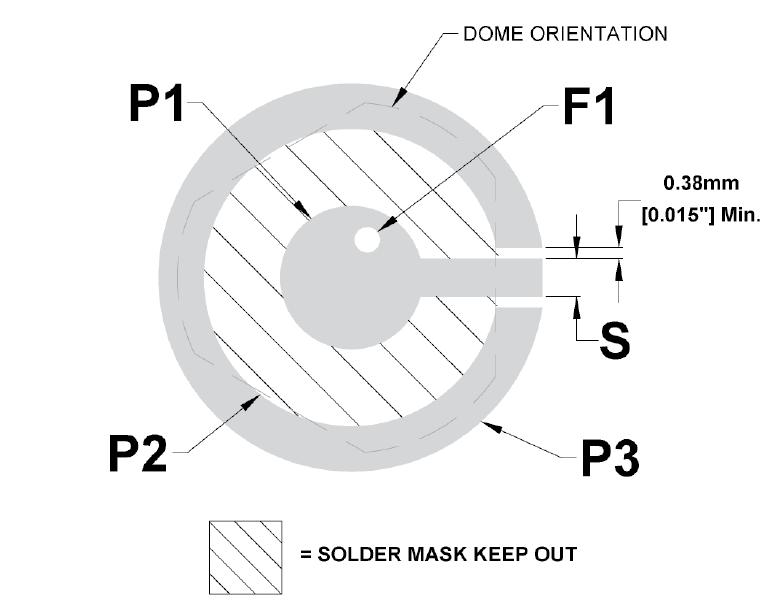 Circuit imprimé simple face 3 pieds